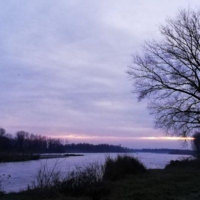 Alba sul fiume Piave