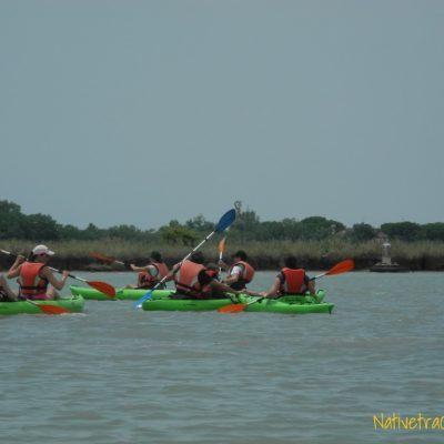 In canoa tra le barene